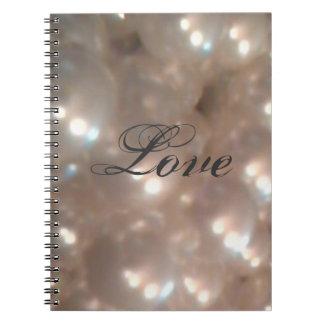 Elegant Retro Vintage Antique Pearls Love Notebooks