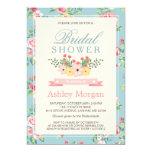 Elegant Retro Vintage Floral Decor Bridal Shower Card
