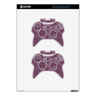 Elegant Retro Vintage Floral Plum Purple XBOX 360 Xbox 360 Controller Decal