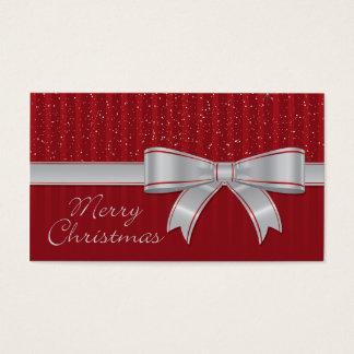 Elegant ribbon and stars business card