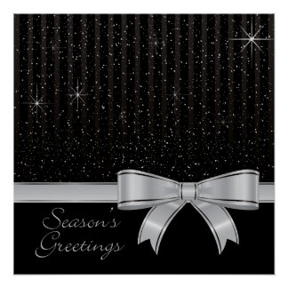 Elegant ribbon and stars poster