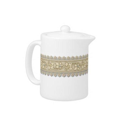 Elegant Ribbon Tea Pot