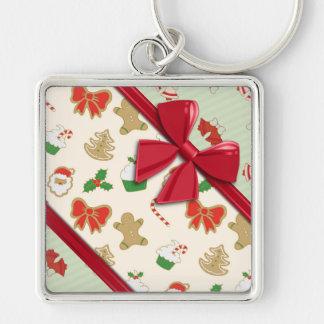 Elegant Ribbons and Christmas Bells Keychain