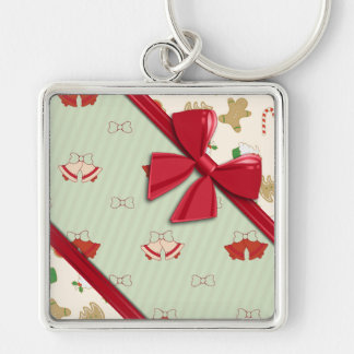 Elegant Ribbons and Christmas Bells Keychains