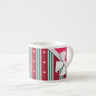 Elegant Ribbons and Christmas Ugly Sweater Espresso Cup