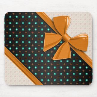 Elegant Ribbons and Circles Mouse Pad