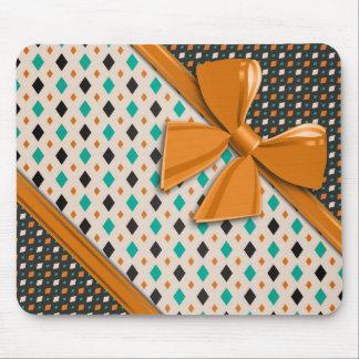Elegant Ribbons and Diamonds Mouse Pad