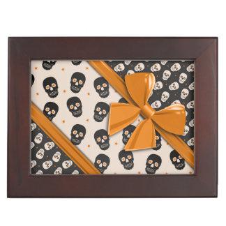 Elegant Ribbons and Skulls Halloween Memory Box