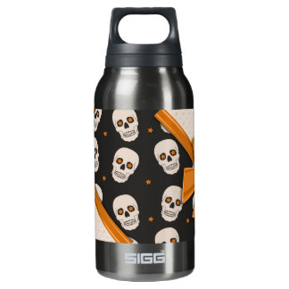 Elegant Ribbons and Skulls Halloween 10 Oz Insulated SIGG Thermos Water Bottle