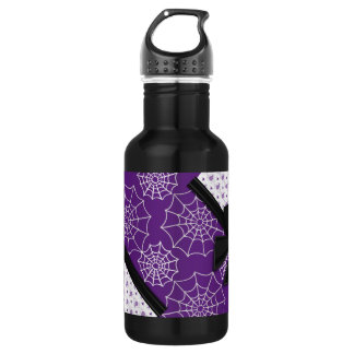 Elegant Ribbons and Spiders Halloween 18oz Water Bottle