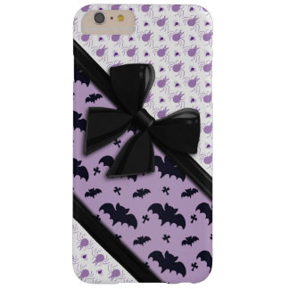 Elegant Ribbons, Spiders and Bats Halloween Barely There iPhone 6 Plus Case