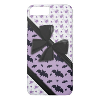Elegant Ribbons, Spiders and Bats Halloween iPhone 7 Plus Case