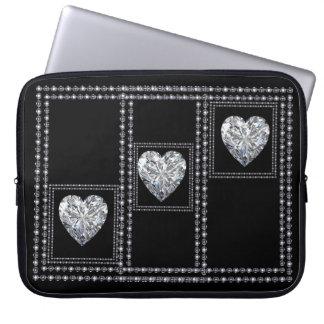 Elegant, rich, diamonds- laptop sleeve designed