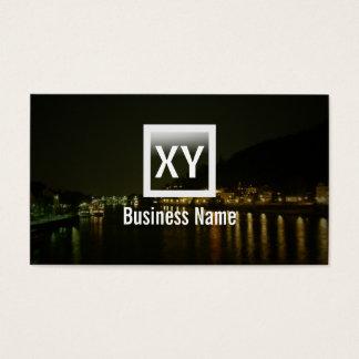 Elegant River at Night Dark Business Card