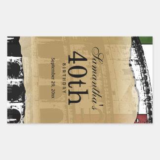 Elegant Roman Coliseum Customizable Wine Label