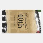 Elegant Roman Coliseum Customizable Wine Label Rectangular Sticker