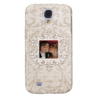Elegant Romance Bridal Scroll Personalized Photo Samsung Galaxy S4 Cover