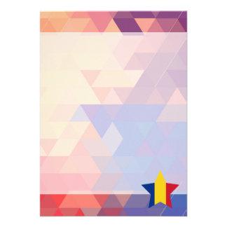 "Elegant Romania flag heart 5"" X 7"" Invitation Card"