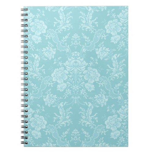 Elegant Romantic Chic Floral Damask_Mint Notebook
