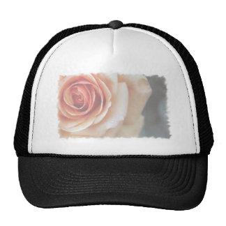Elegant Romantic Faded Peach Rose Trucker Hat