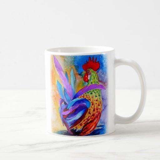 Elegant Rooster Classic White Coffee Mug