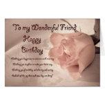 Elegant rose birthday card for friend