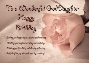 Goddaughter Birthday Cards Zazzle