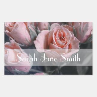 Elegant Rose Bouquet Rectangular Sticker