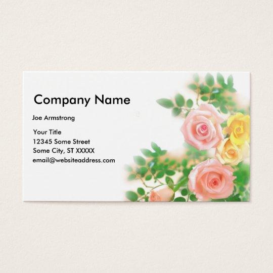 Elegant Rose Business Card