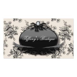 Elegant Rose Damask Fashion Boutique Busines Cards Business Card Templates