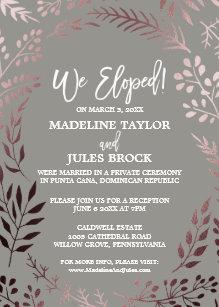 elopement reception invitations zazzle