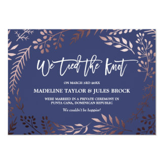 Eloped Invitations & Announcements | Zazzle