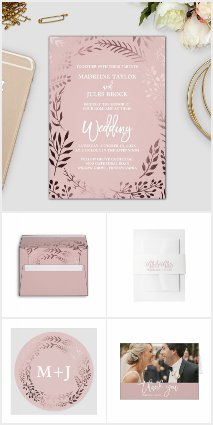 Elegant Rose Gold and Pink Wedding Collection