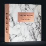 """elegant rose gold and  white marble stone binder<br><div class=""""desc"""">elegant marble look binder</div>"""