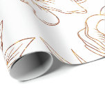 """Elegant Rose Gold and White Wedding Wrapping Paper<br><div class=""""desc"""">Elegant Rose Gold and White Wedding Wrapping Paper</div>"""