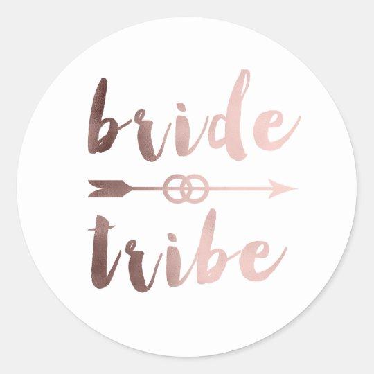 elegant rose gold bride tribe arrow wedding rings classic round