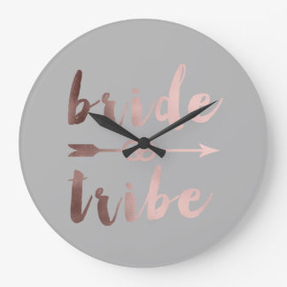 elegant rose gold bride tribe arrow wedding rings large clock