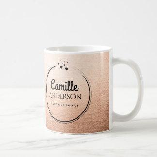 Elegant Rose Gold Coffee Mug