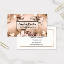 Elegant Rose Gold Floral business cards