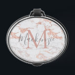 """Elegant Rose Gold Foil White Marble Monogram Bluetooth Speaker<br><div class=""""desc"""">Elegant Rose Gold Foil White Marble Monogram Portable Speaker with chic marble in copper rose gold shades of pink. Easy to customize with your name,  monogram,  and details.</div>"""