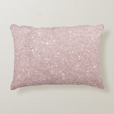 elipsa elegant rose gold glitter accent pillow