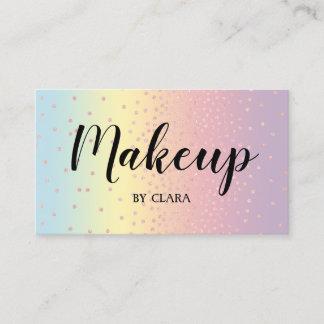 Elegant rose gold glitter confetti dots gradient business card