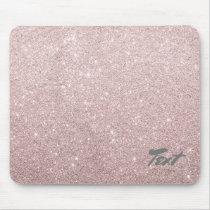elegant rose gold glitter mouse pad