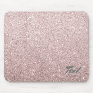elegant rose gold glitter mouse pad