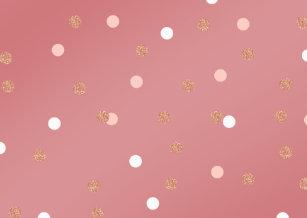 Elegant Rose Gold Glitter Pink Polka Dots Pattern Cover For Ipad Mini