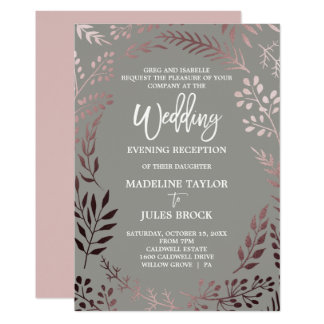 Evening Invitation Wedding Midway Media