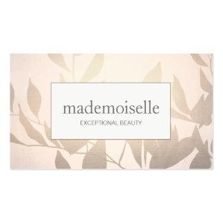 Elegant Rose Gold Leaves Esthetian Beauty Business Card