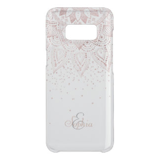 Elegant rose gold mandala confetti design uncommon samsung galaxy s8 case