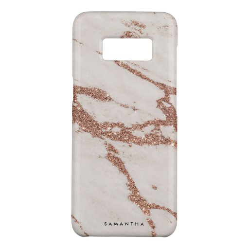 Elegant Rose Gold Marble Abstract Case-Mate Samsung Galaxy S8 Case