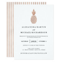 Elegant Rose Gold Pineapple Wedding Invitation